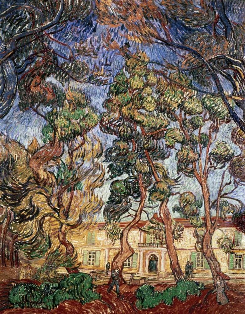 konfigurieren des Kunstdrucks in Wunschgröße Trees in the Garden of Saint-Paul Hospital von Van Gogh, Vincent