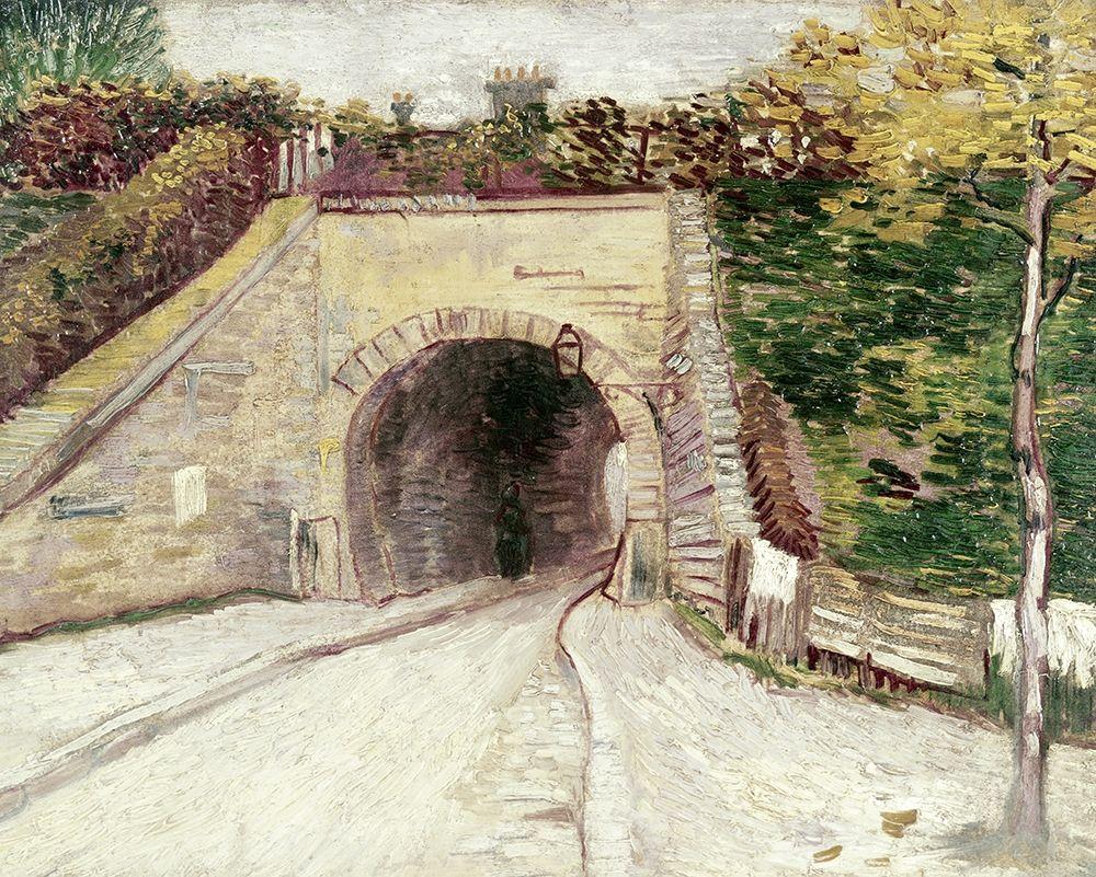 konfigurieren des Kunstdrucks in Wunschgröße Tunnel Through Hillside von Van Gogh, Vincent