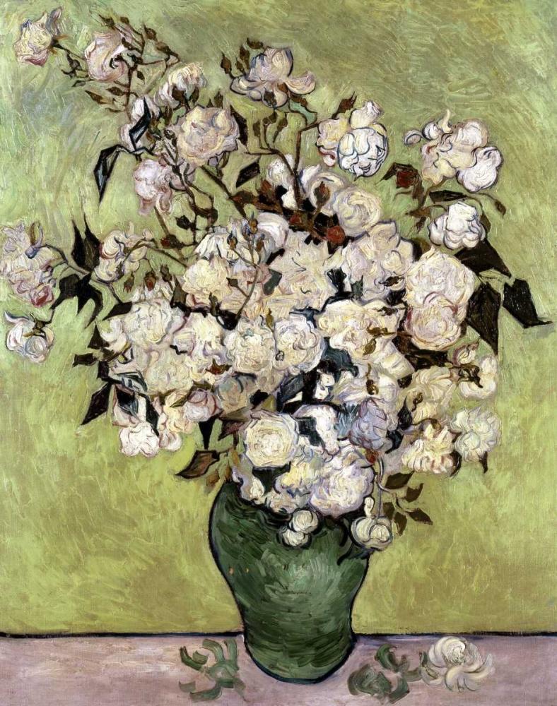 konfigurieren des Kunstdrucks in Wunschgröße Vase of Roses von Van Gogh, Vincent