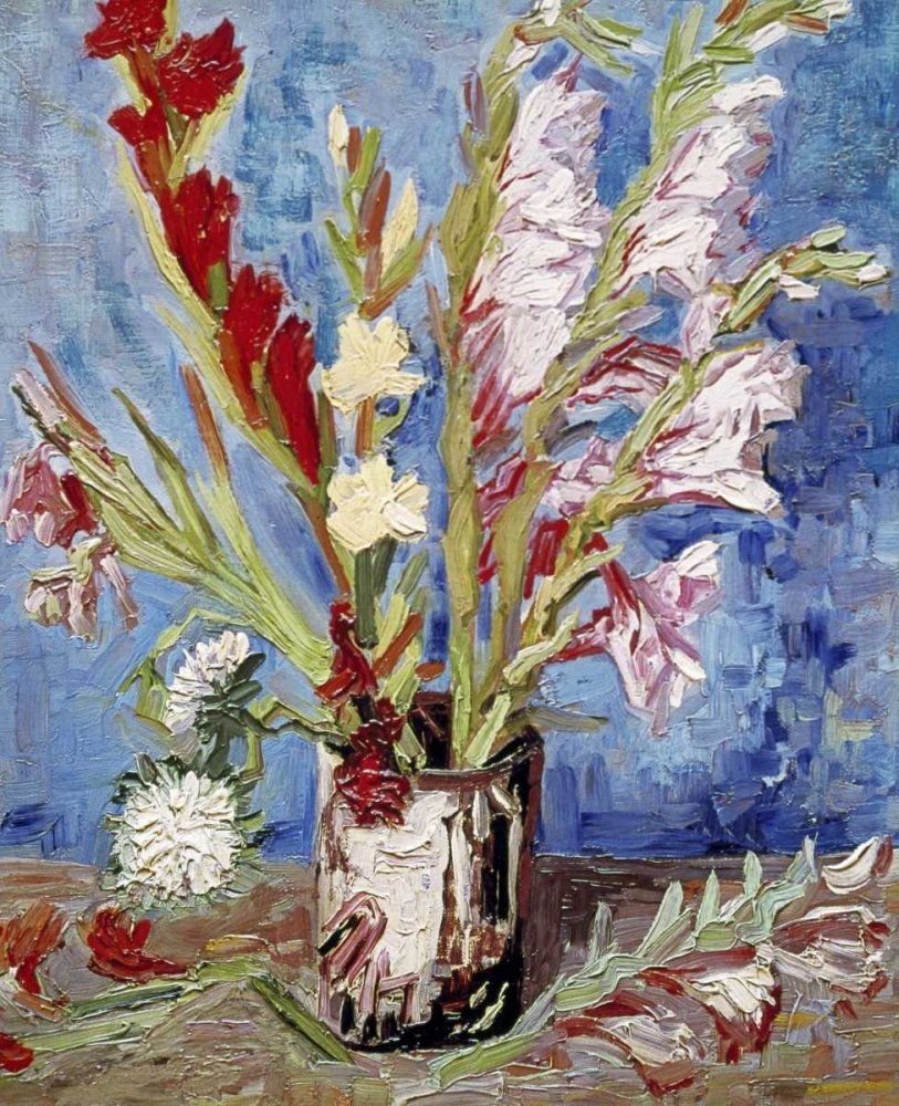 konfigurieren des Kunstdrucks in Wunschgröße Vase With Gladioli von Van Gogh, Vincent