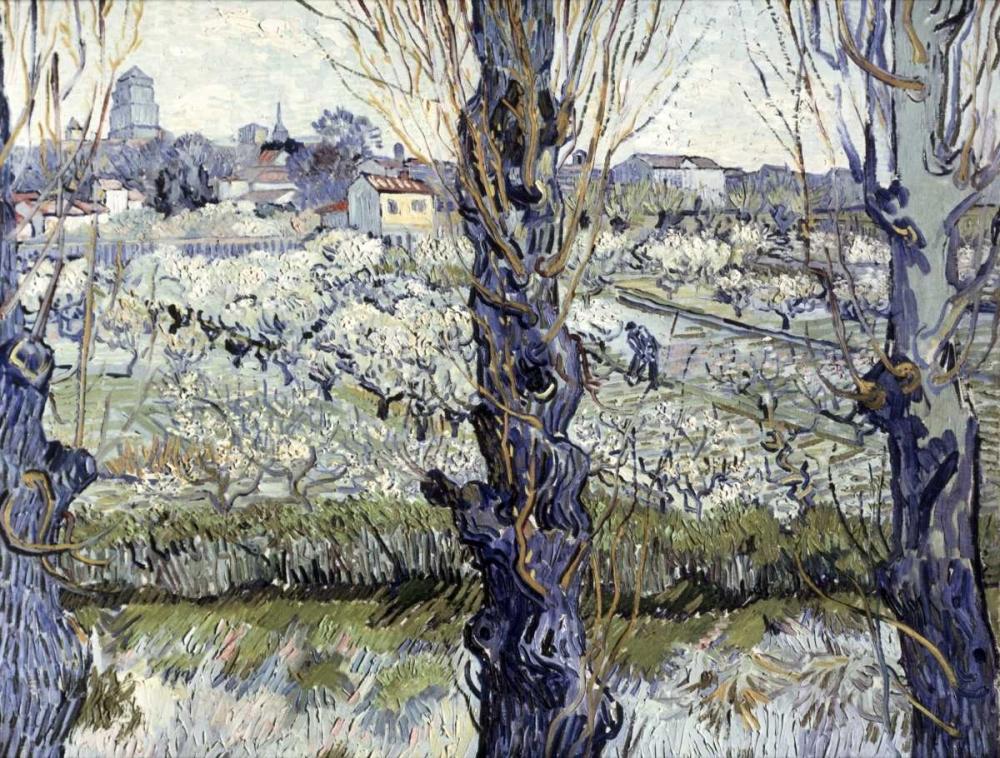 konfigurieren des Kunstdrucks in Wunschgröße View of Arles von Van Gogh, Vincent
