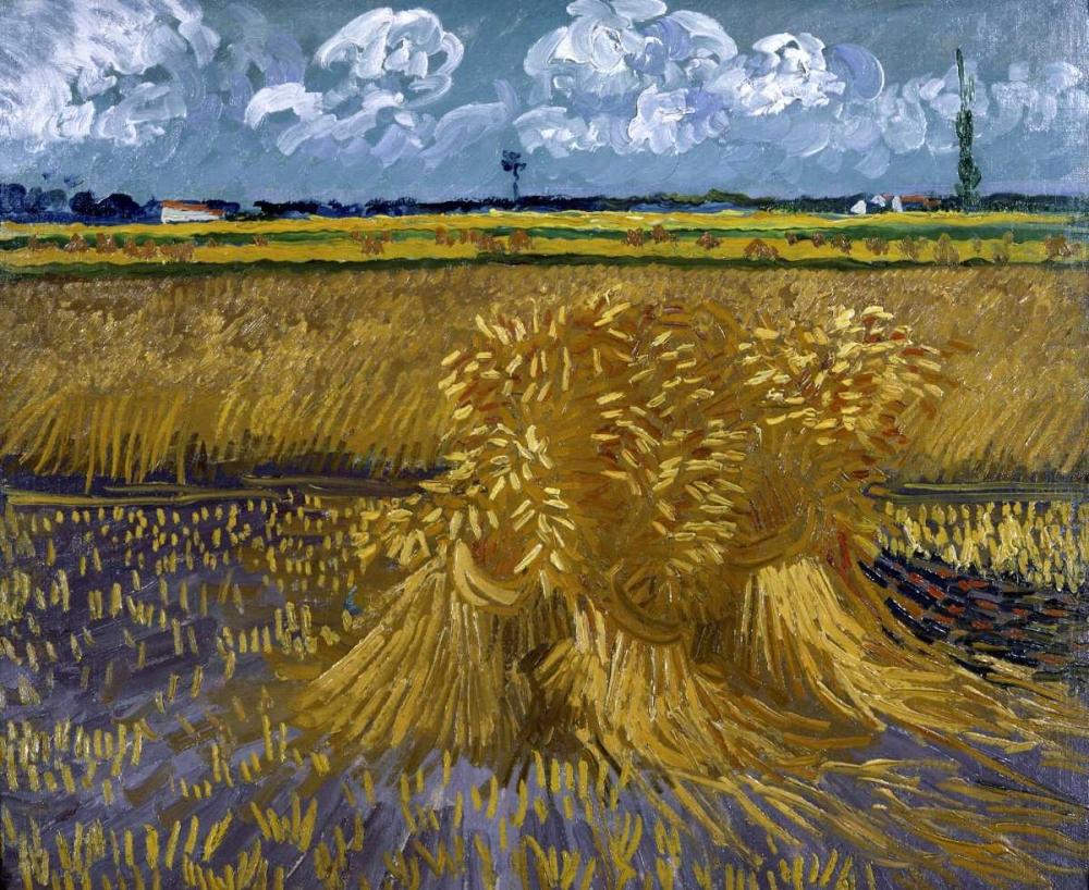 konfigurieren des Kunstdrucks in Wunschgröße Wheat Field with Sheaves von Van Gogh, Vincent