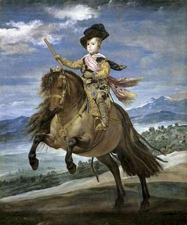 konfigurieren des Kunstdrucks in Wunschgröße Prince Carlos Balthasar On Horseback von Velazquez, Diego