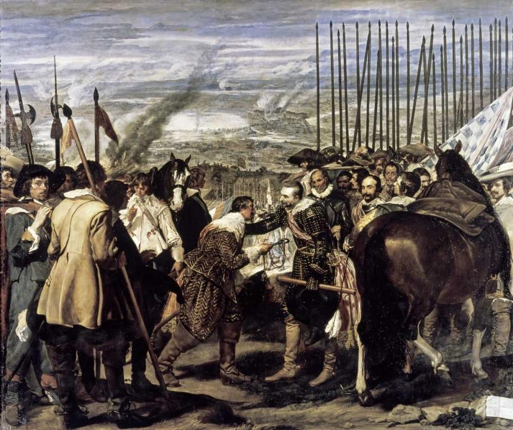 Surrender of Breda - The Spears von Velazquez, Diego <br> max. 97 x 81cm <br> Preis: ab 10€