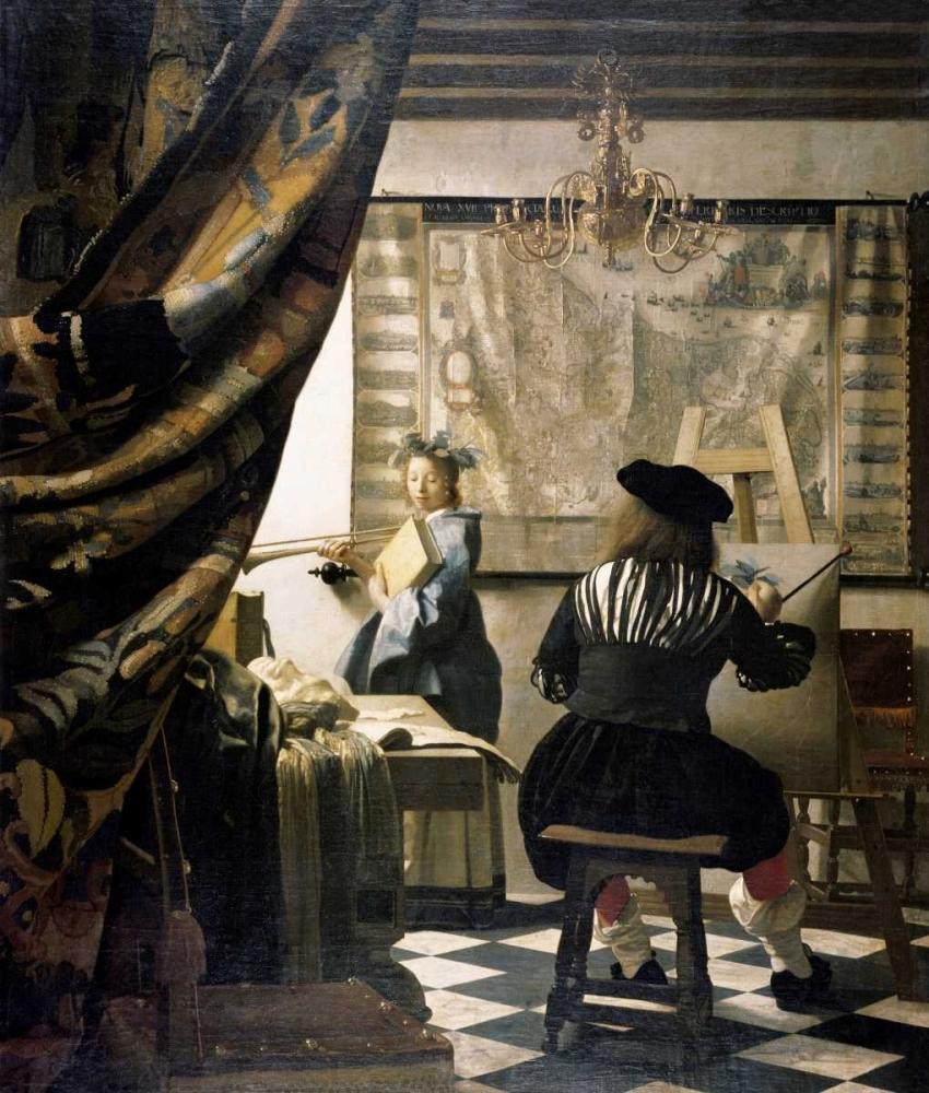 konfigurieren des Kunstdrucks in Wunschgröße The Artists Studio von Vermeer, Johannes
