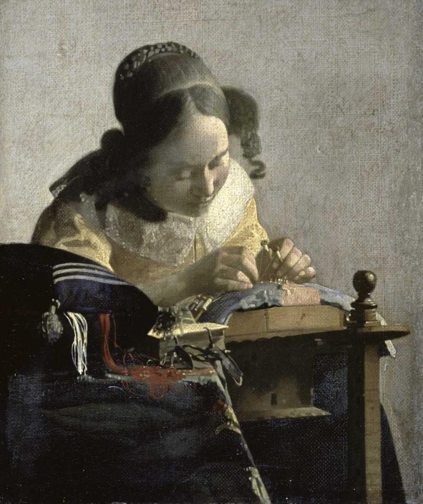 konfigurieren des Kunstdrucks in Wunschgröße The Lacemaker von Vermeer, Johannes