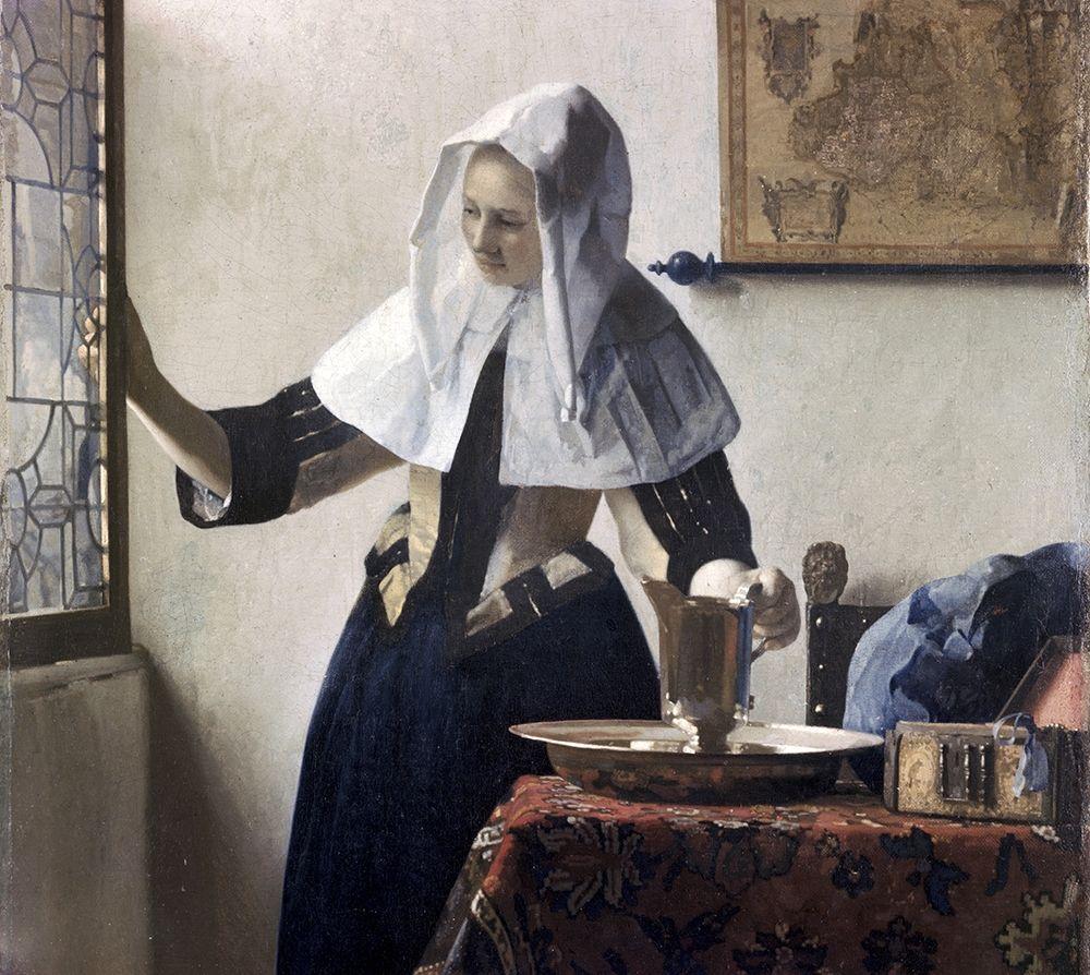 konfigurieren des Kunstdrucks in Wunschgröße Woman with a Water Jug - Detail von Vermeer, Johannes