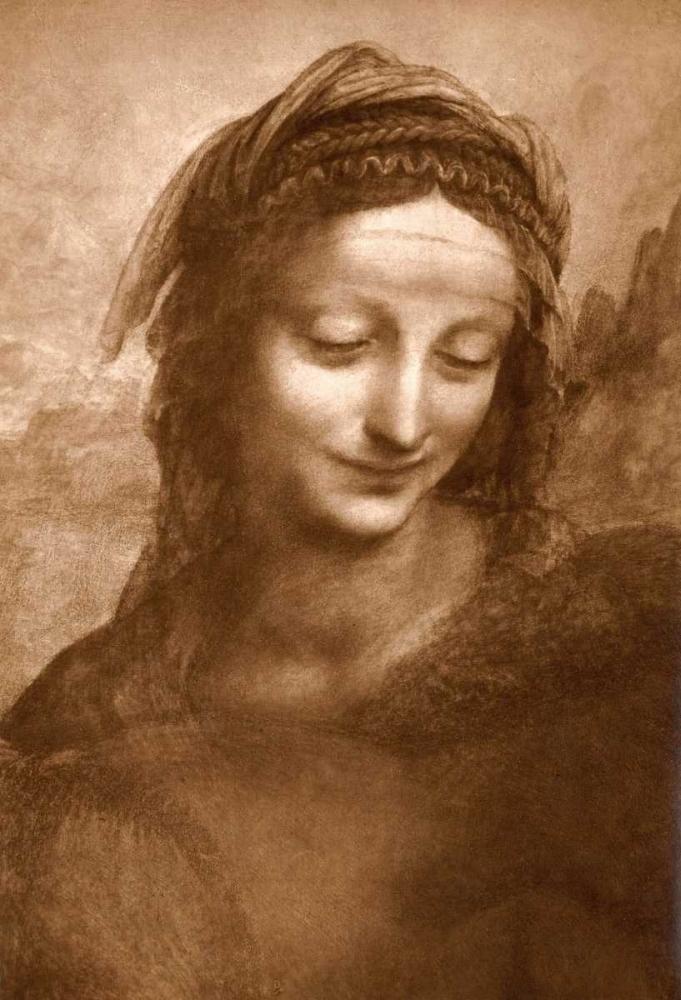 konfigurieren des Kunstdrucks in Wunschgröße Portrait of St. Anne von Da Vinci, Leonardo