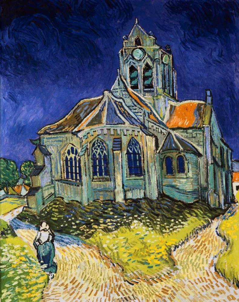 konfigurieren des Kunstdrucks in Wunschgröße The Church at Auvers von Van Gogh, Vincent