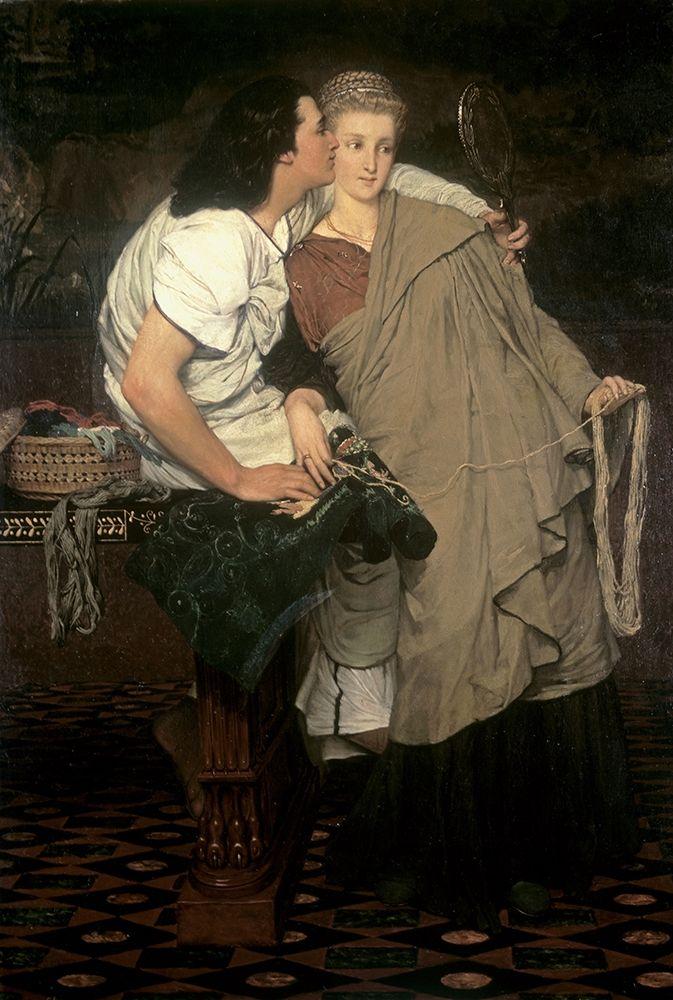 konfigurieren des Kunstdrucks in Wunschgröße The Honeymoon (Reign of Augustus) von Alma-Tadema, Sir Lawrence