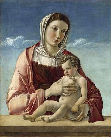 konfigurieren des Kunstdrucks in Wunschgröße Madonna and Child - Madonna Frizzoni von Bellini, Giovanni