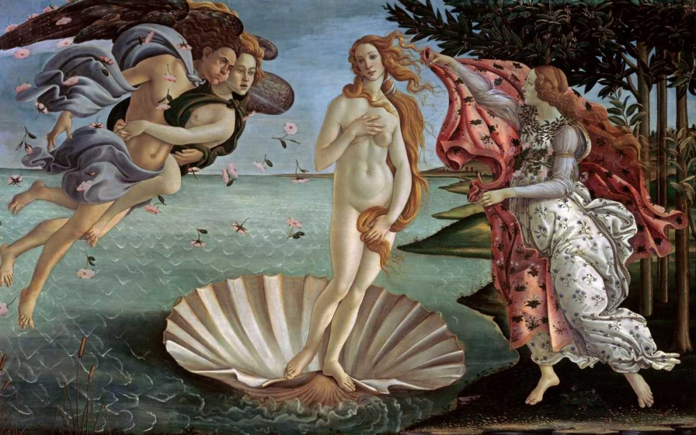 konfigurieren des Kunstdrucks in Wunschgröße The Birth of Venus von Botticelli, Sandro
