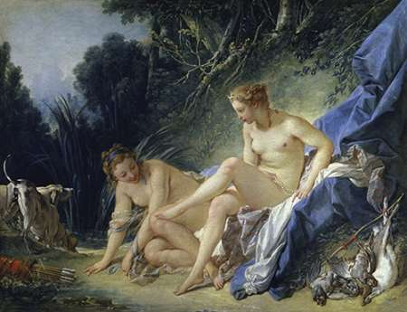 Diana Leaving the Bath von Boucher, Francois <br> max. 102 x 76cm <br> Preis: ab 10€