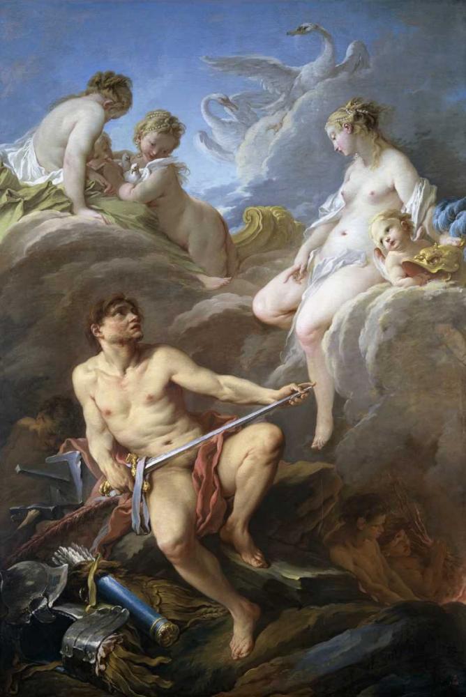 konfigurieren des Kunstdrucks in Wunschgröße Venus Requesting Arms for Aeneas From Vulcan von Boucher, Francois