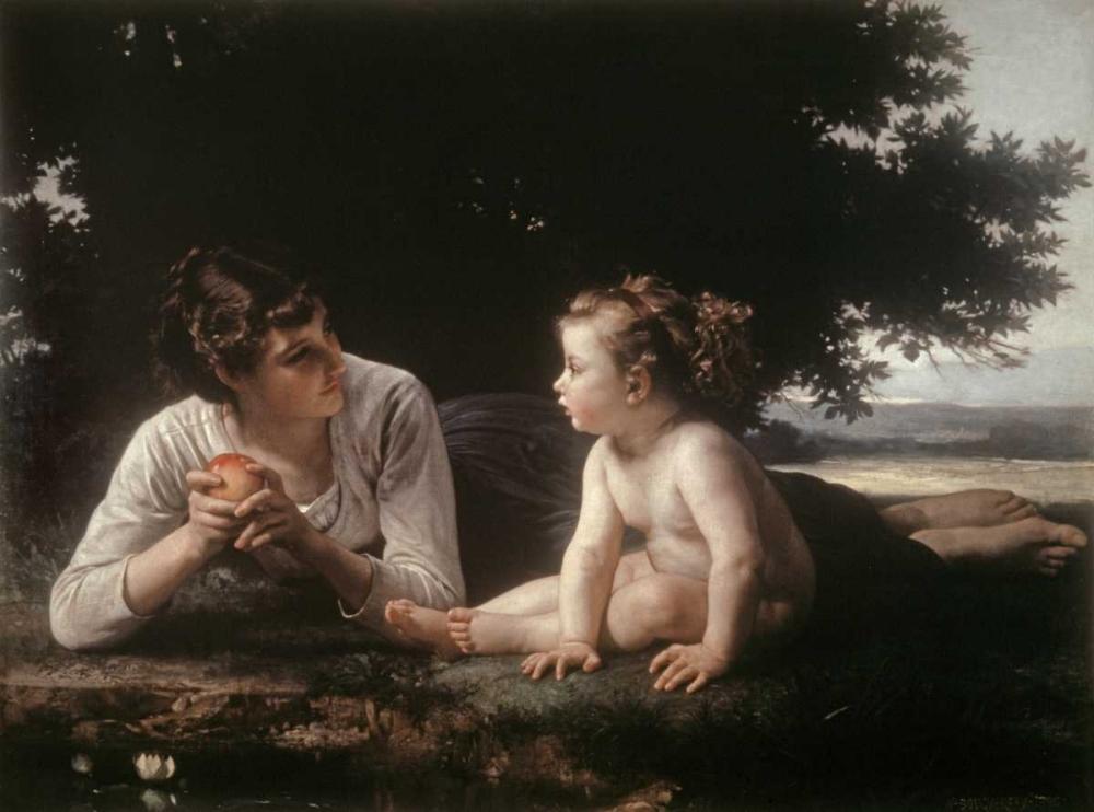 konfigurieren des Kunstdrucks in Wunschgröße Mother and Child - II von Bouguereau, William-Adolphe