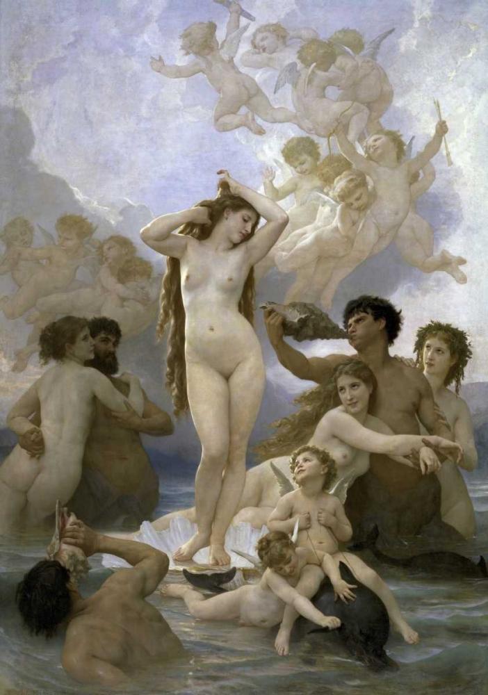 konfigurieren des Kunstdrucks in Wunschgröße The Birth of Venus von Bouguereau, William-Adolphe
