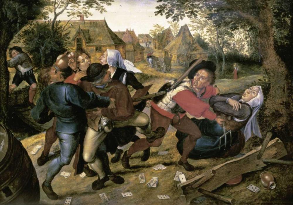 konfigurieren des Kunstdrucks in Wunschgröße The Card-Players von Bruegel, Pieter the Elder