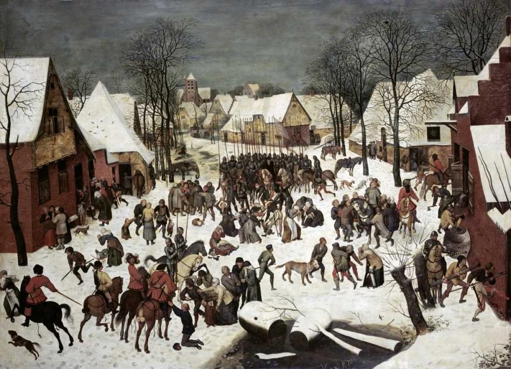konfigurieren des Kunstdrucks in Wunschgröße The Massacre of the Innocents von Bruegel, Pieter the Elder