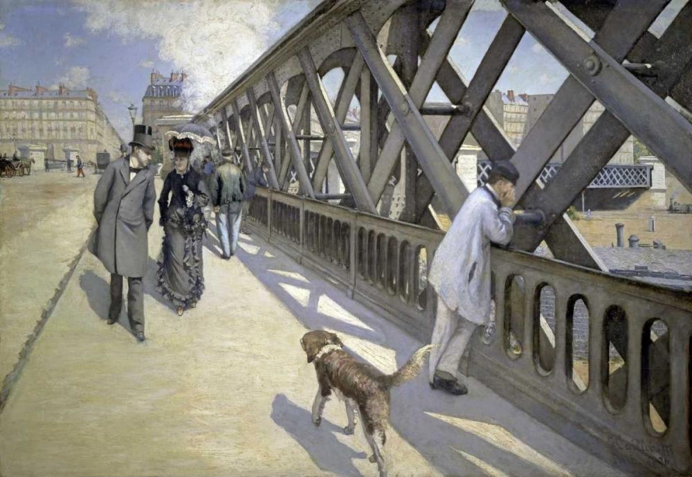 konfigurieren des Kunstdrucks in Wunschgröße The Bridge of Europe von Caillebotte, Gustave