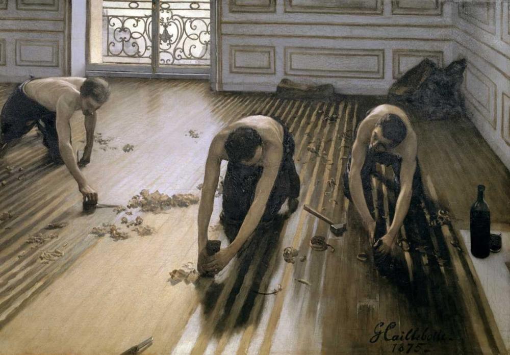 konfigurieren des Kunstdrucks in Wunschgröße The Floor Scrapers von Caillebotte, Gustave