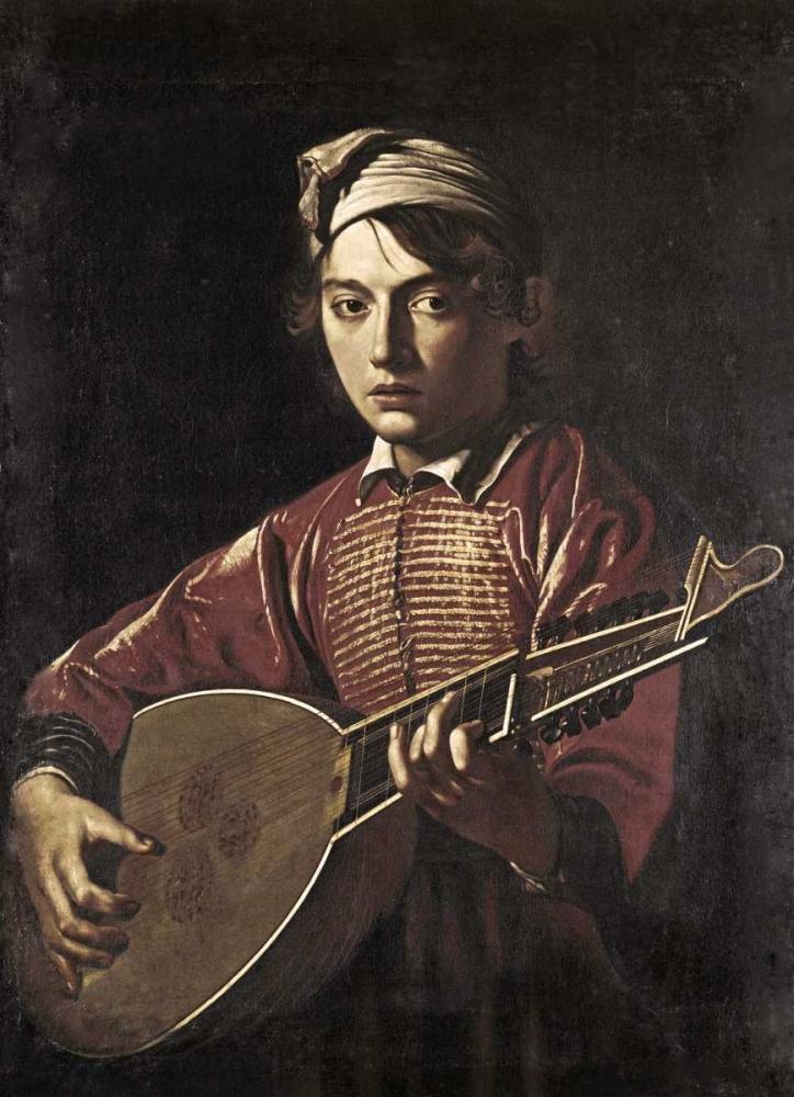 konfigurieren des Kunstdrucks in Wunschgröße The Lute Player von Caravaggio