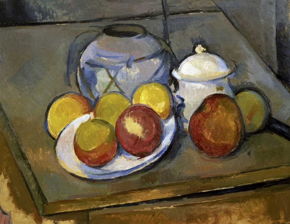 Flawed Vase, Sugar Bowl and Apples von Cezanne, Paul <br> max. 102 x 79cm <br> Preis: ab 10€