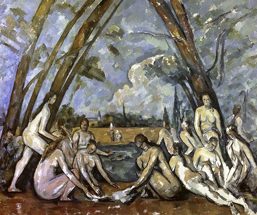 konfigurieren des Kunstdrucks in Wunschgröße Les Grand Baigneuses #1 von Cezanne, Paul