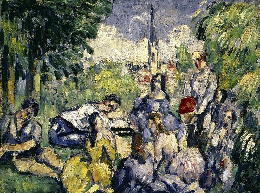 konfigurieren des Kunstdrucks in Wunschgröße Lunch on the Grass von Cezanne, Paul