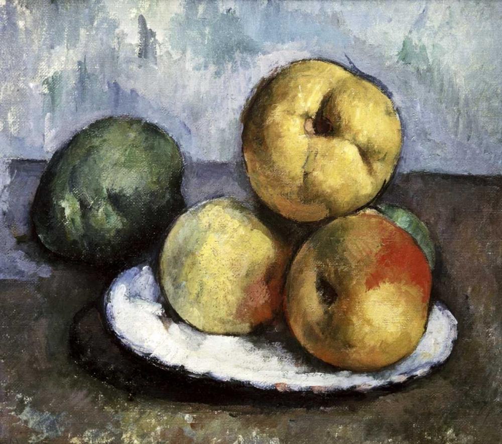 konfigurieren des Kunstdrucks in Wunschgröße Still Life with Apples and Peaches von Cezanne, Paul