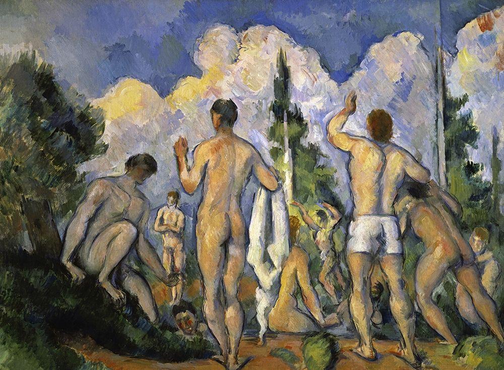 konfigurieren des Kunstdrucks in Wunschgröße The Bathers von Cezanne, Paul