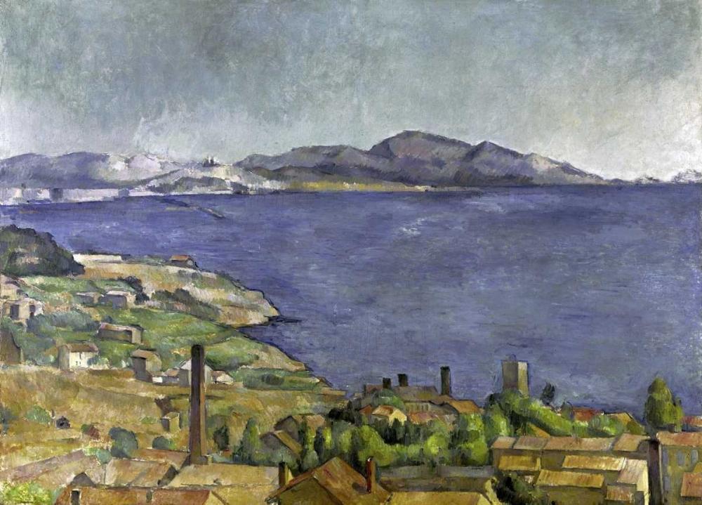 konfigurieren des Kunstdrucks in Wunschgröße The Gulf of Marseilles von Cezanne, Paul
