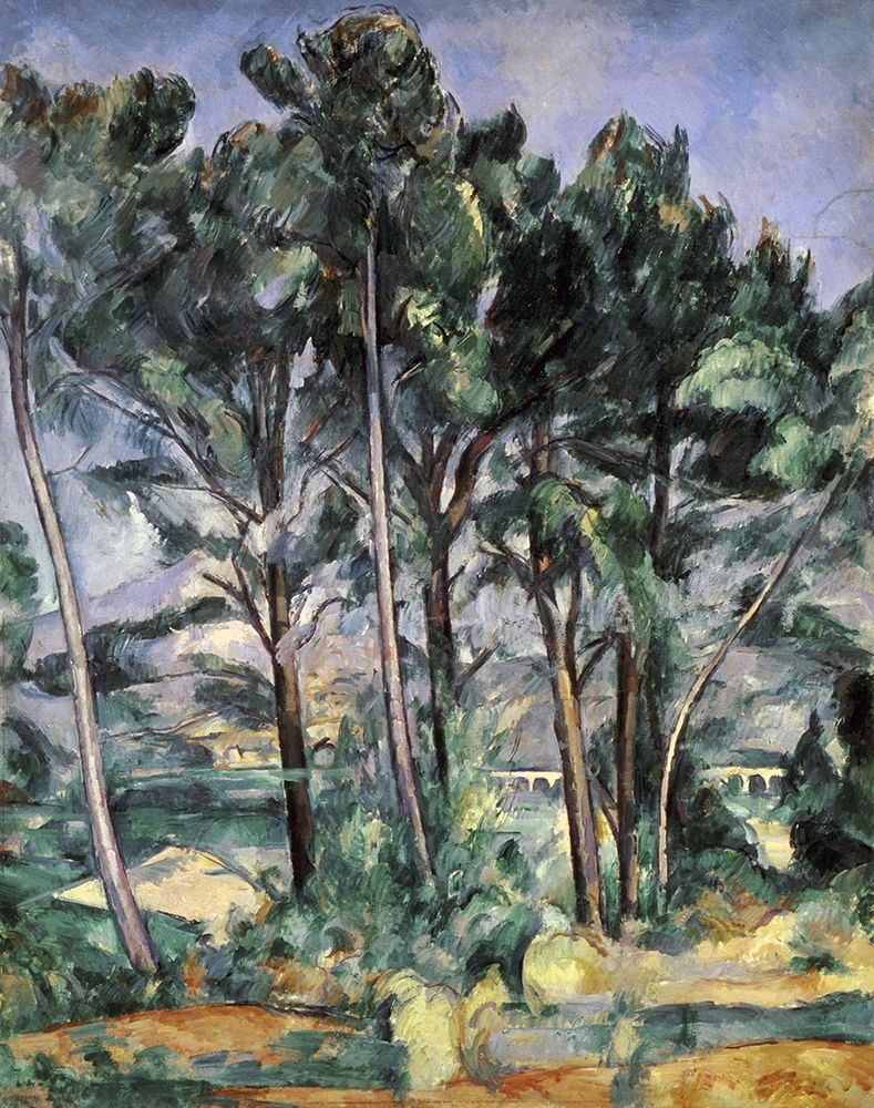 konfigurieren des Kunstdrucks in Wunschgröße The Viaduct von Cezanne, Paul