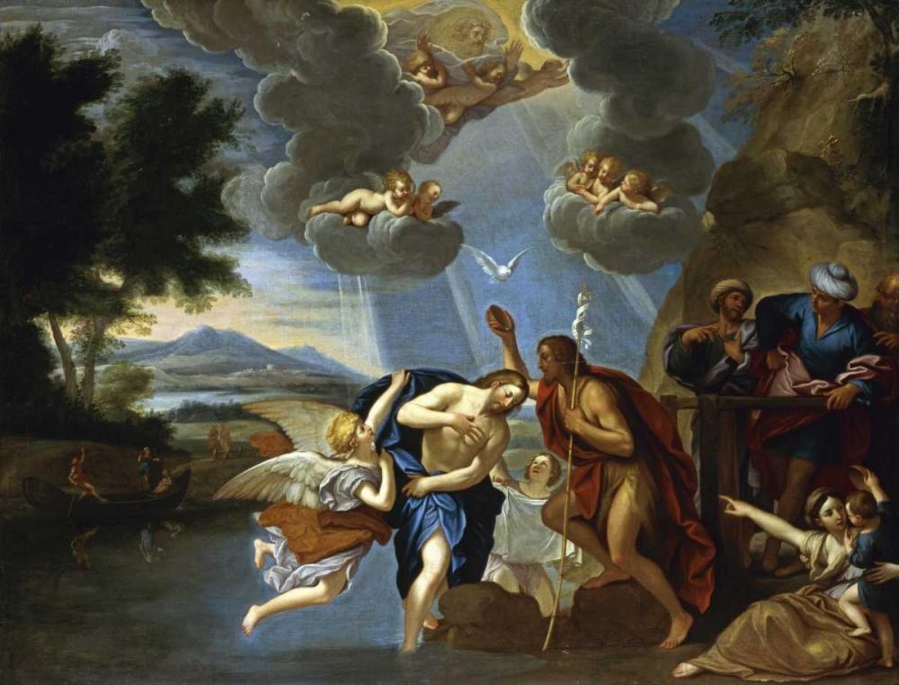 konfigurieren des Kunstdrucks in Wunschgröße The Baptism of Christ von Einzelbilder