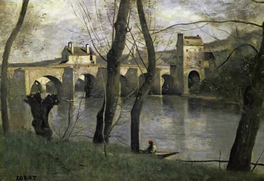 konfigurieren des Kunstdrucks in Wunschgröße The Bridge of Nantes von Corot, Jean-Baptiste-Camille