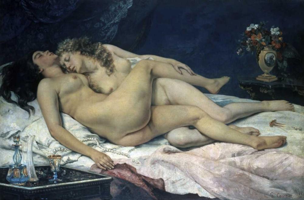 konfigurieren des Kunstdrucks in Wunschgröße Sleep von Courbet, Gustave