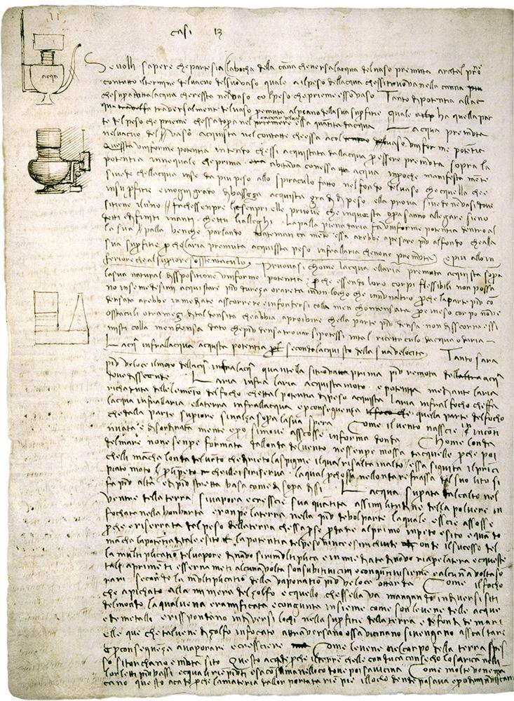 konfigurieren des Kunstdrucks in Wunschgröße Codex Leicester: Water Pressure Theories von Da Vinci, Leonardo