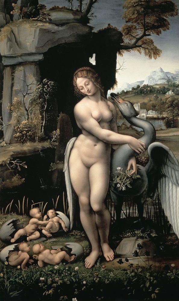 konfigurieren des Kunstdrucks in Wunschgröße Leda and the Swan von Da Vinci, Leonardo
