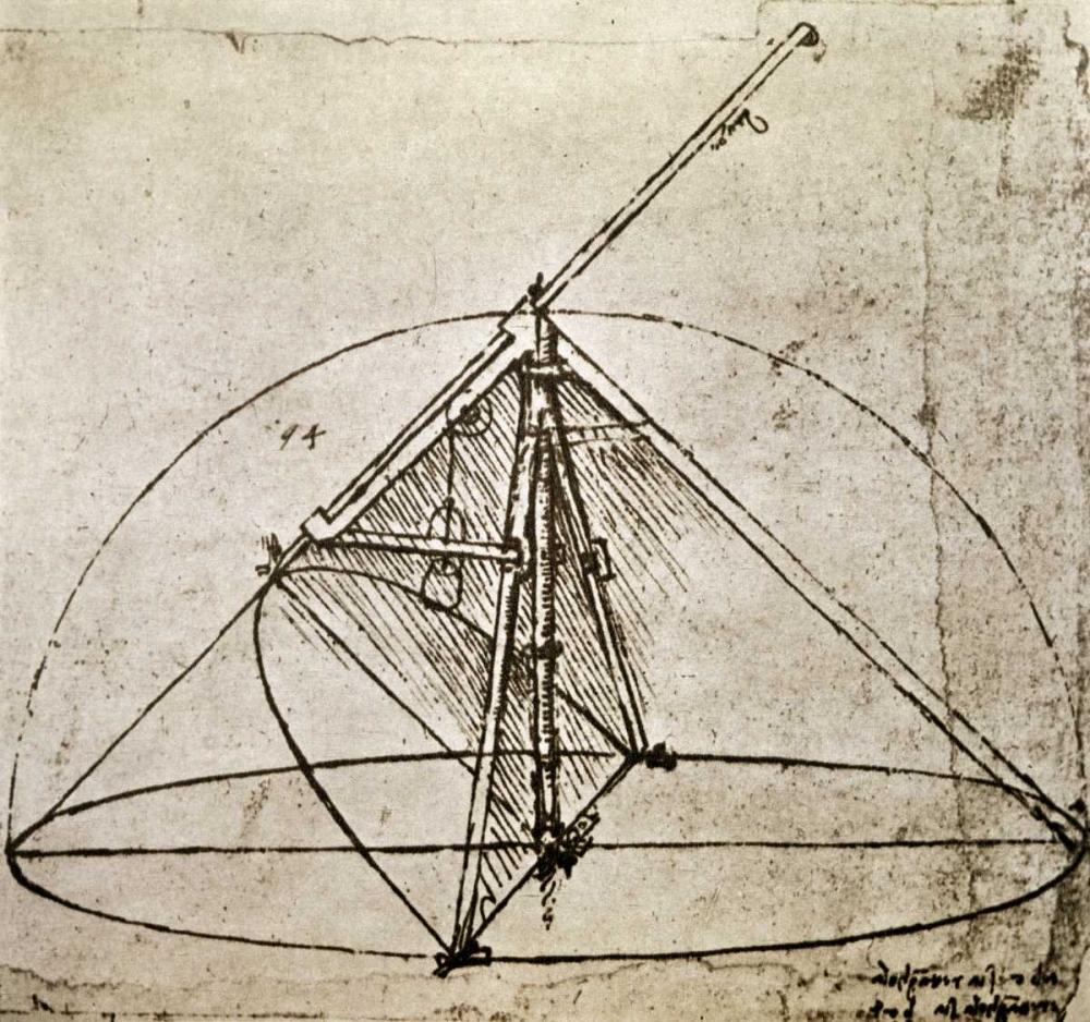 konfigurieren des Kunstdrucks in Wunschgröße Measuring Instruments von Da Vinci, Leonardo