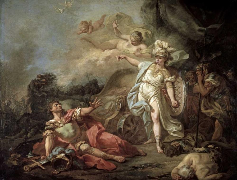 Battle of Minerva Against Mars von David, Jacques-Louis <br> max. 102 x 76cm <br> Preis: ab 10€