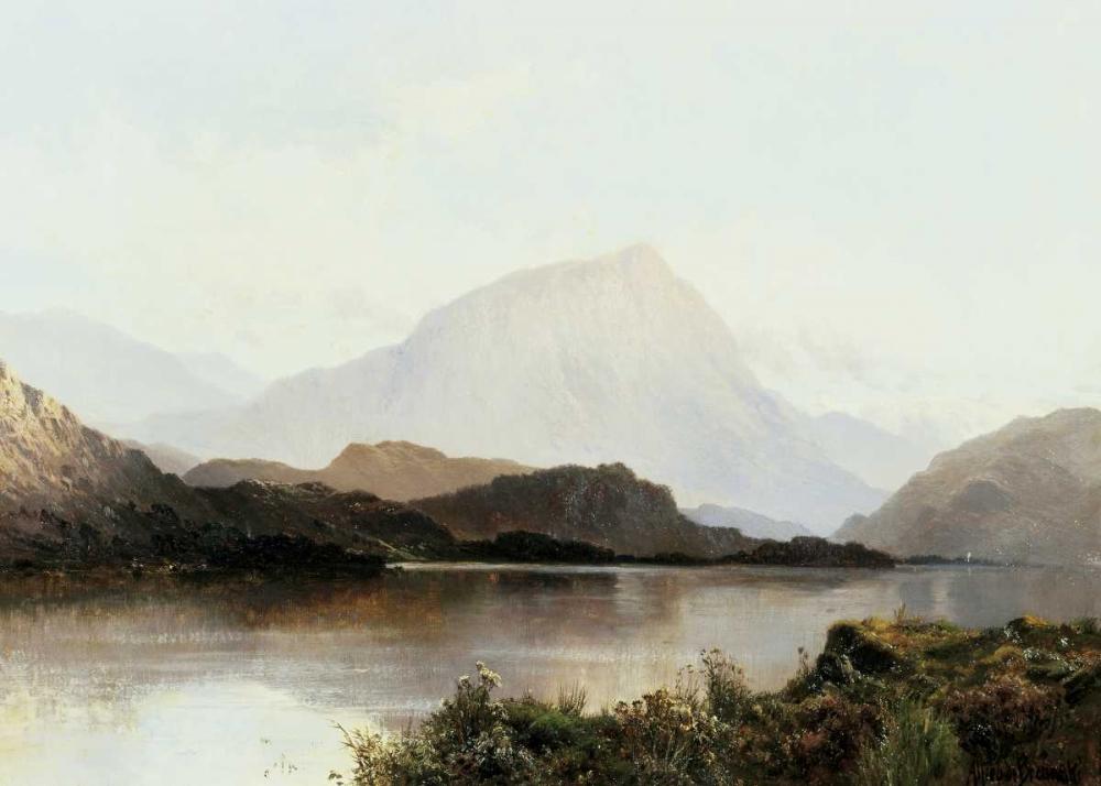 konfigurieren des Kunstdrucks in Wunschgröße The Hills of Loch Lomond von De Breanski, Alfred