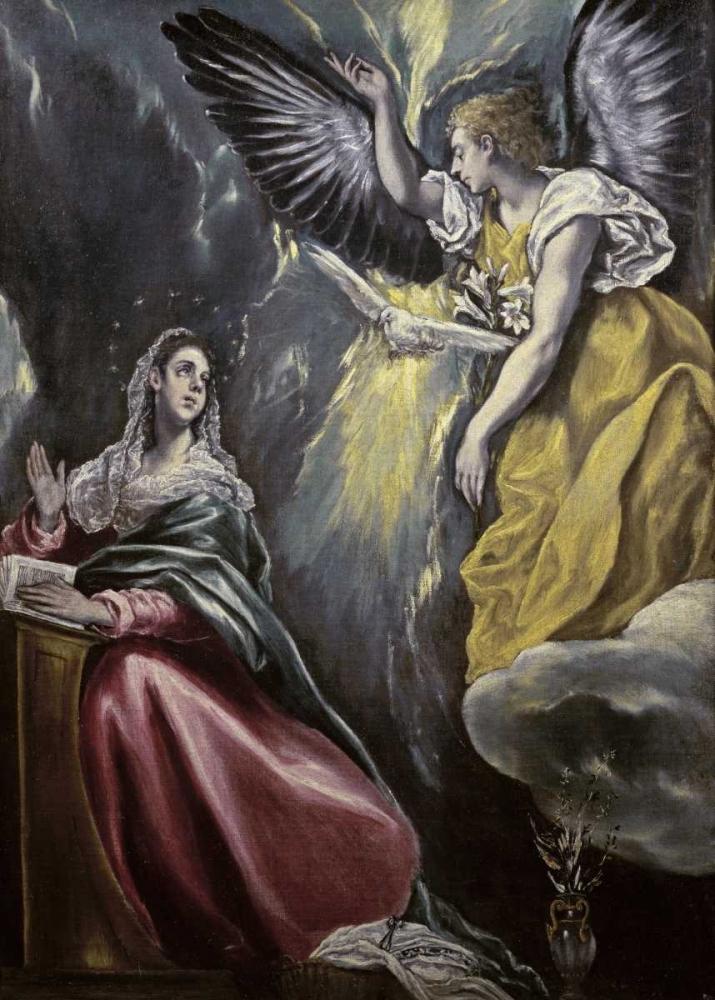 konfigurieren des Kunstdrucks in Wunschgröße The Annunciation von El Greco