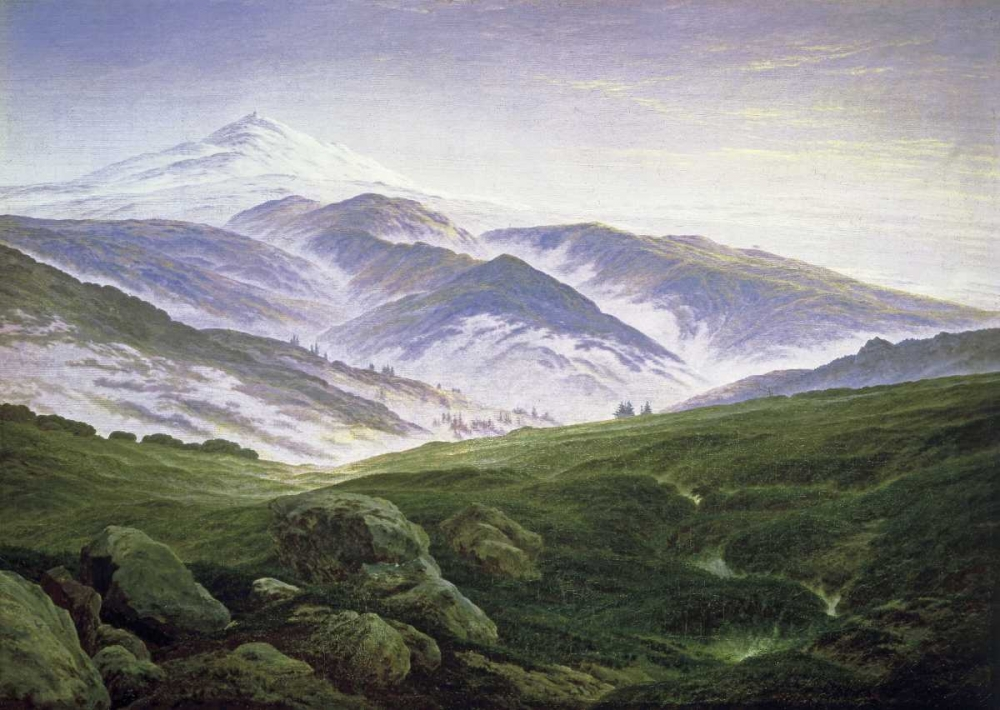 Riesengebirge von Friedrich, Caspar David <br> max. 104 x 74cm <br> Preis: ab 10€