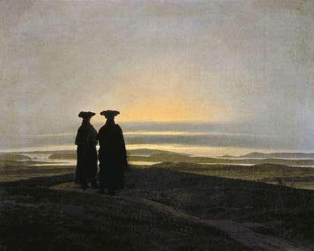 konfigurieren des Kunstdrucks in Wunschgröße Sunset (Brothers) von Friedrich, Caspar David