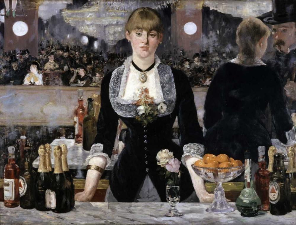 konfigurieren des Kunstdrucks in Wunschgröße Bar at the Folies-Bergeres von Manet, Edouard