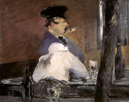 konfigurieren des Kunstdrucks in Wunschgröße In the Bar von Manet, Edouard