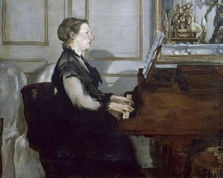 konfigurieren des Kunstdrucks in Wunschgröße Madame Manet au Piano von Manet, Edouard