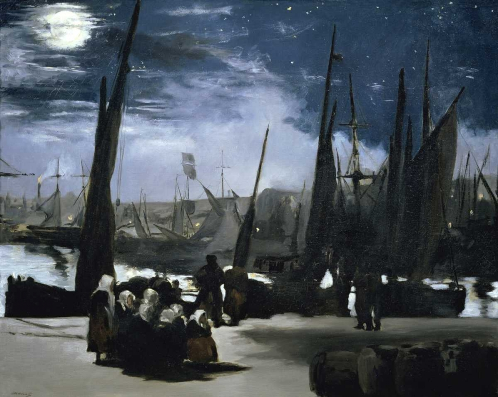 Moonlight over the Port Boulogne von Manet, Edouard <br> max. 99 x 79cm <br> Preis: ab 10€