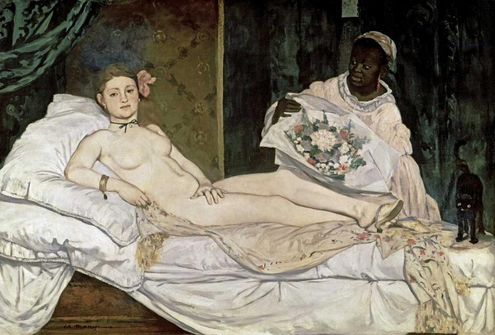konfigurieren des Kunstdrucks in Wunschgröße Olympia von Manet, Edouard