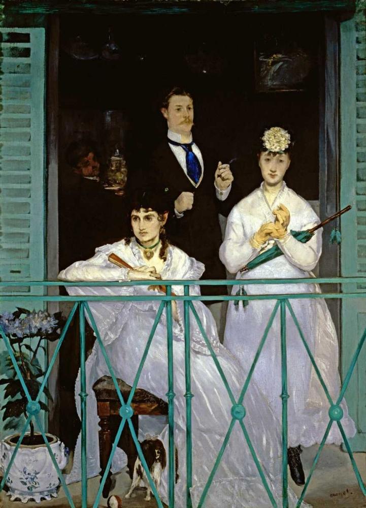 konfigurieren des Kunstdrucks in Wunschgröße The Balcony von Manet, Edouard