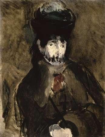 konfigurieren des Kunstdrucks in Wunschgröße Veiled Young Woman - Portrait of Berthe Morisot von Manet, Edouard